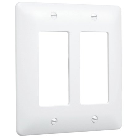Hubbell Taymac - 5500W 2 Gang Paintable Masque Wall Plate Cover, White