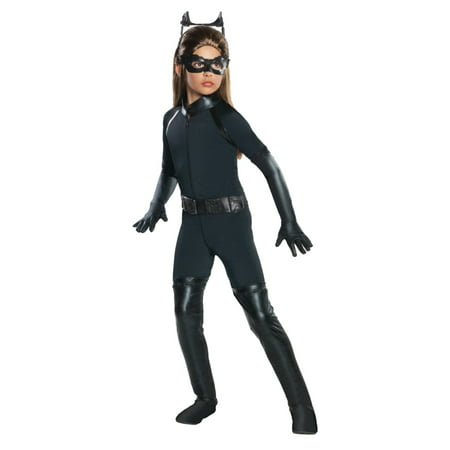 Batman The Dark Knight Rises Girls Catwoman Halloween Costume Dress Up Outfit](Catwoman Batman The Dark Knight Rises)