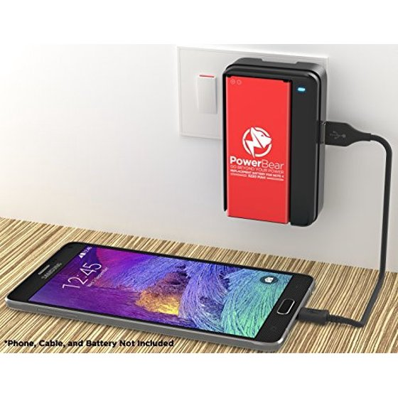 the latest ee5da 86e9a powerbear note 4 battery intelligent charger with usb port (battery not  included) external battery charger cradle for samsung galaxy note 4  batteries ...