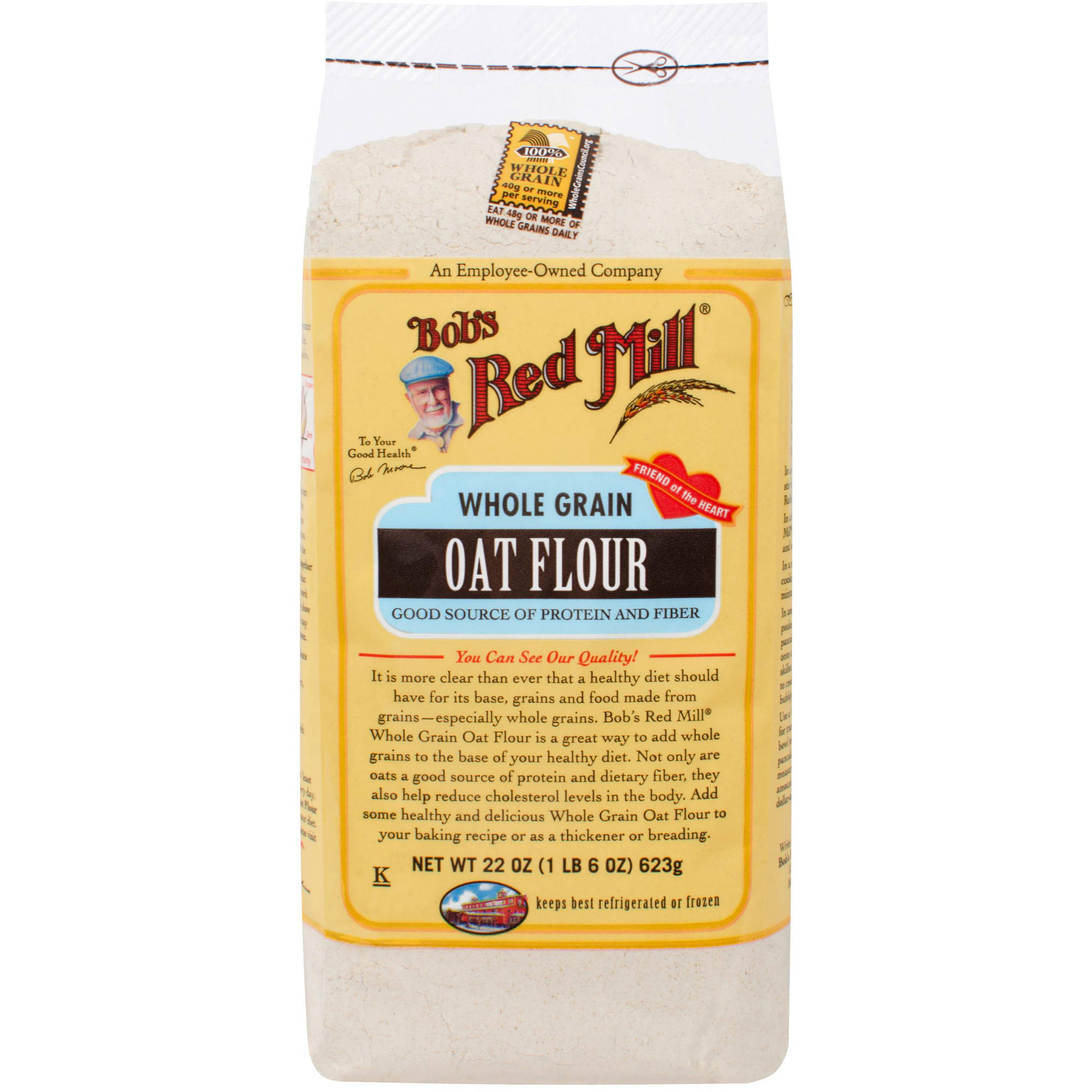 Bob's Red Mill Oat Flour, 22 oz (Pack of 4)