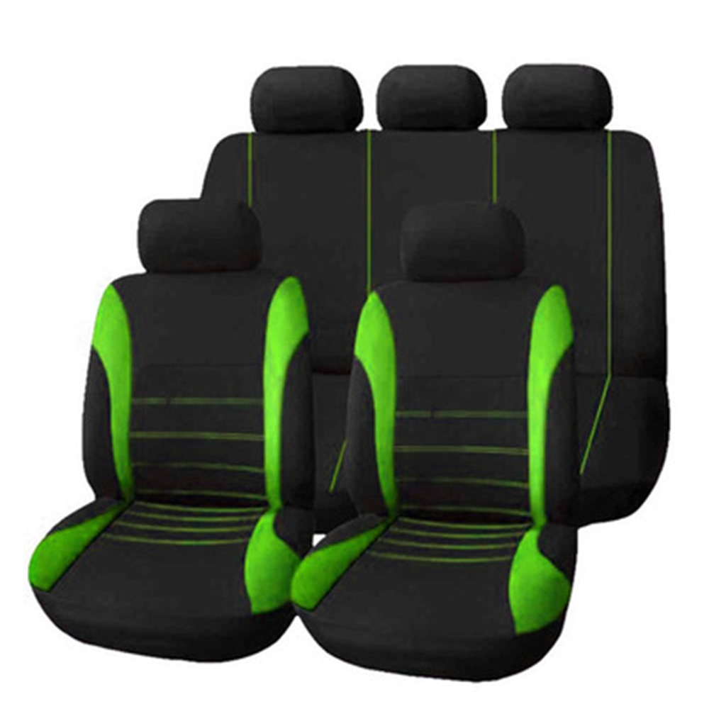 KKmoon 9pcs Car Seat Cover Blue Universal Fit Full Set Auto Interior Accessories Universal Styling Car Cover