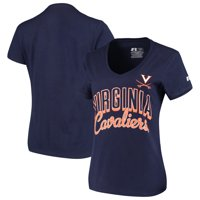 Virginia Cavaliers Russell Athletic Women's Arch V-Neck T-Shirt - Navy
