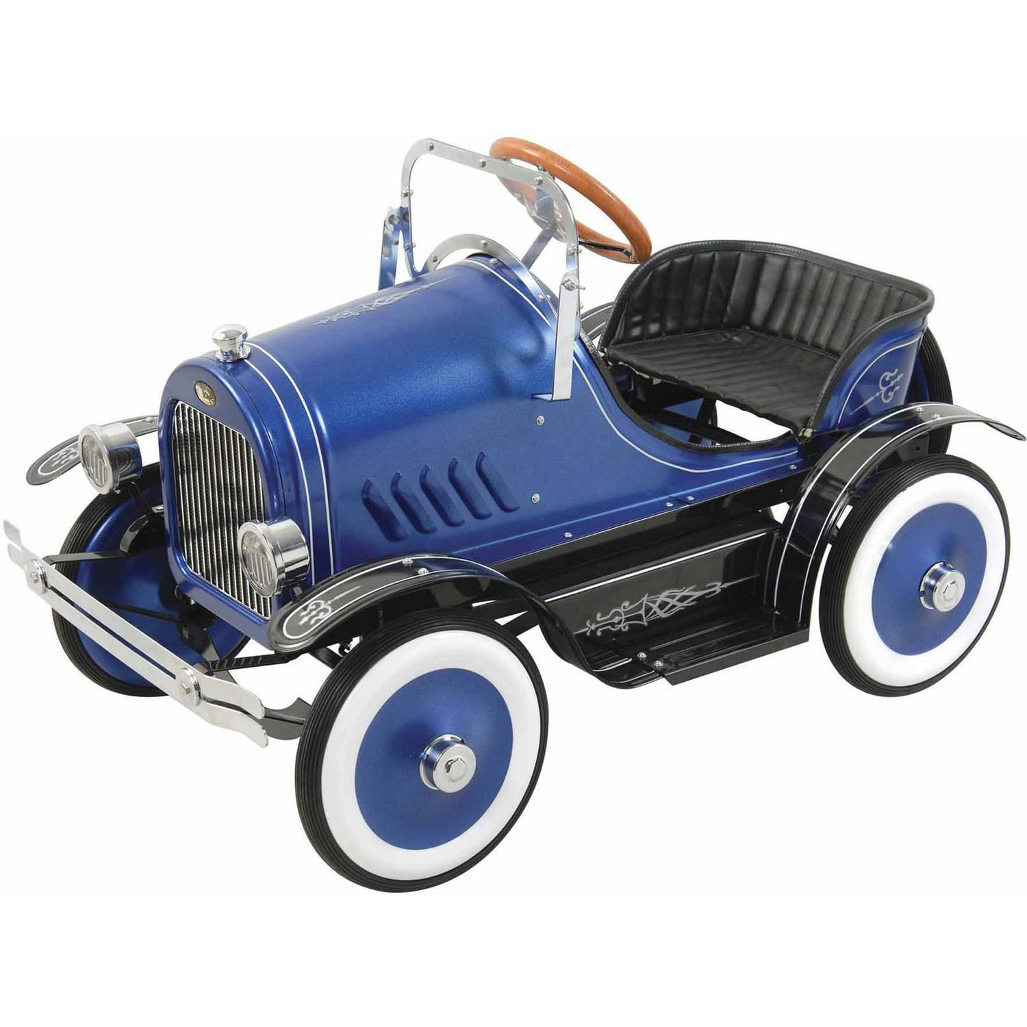 Deluxe Blue Roadster Pedal Car by Big Toy USA