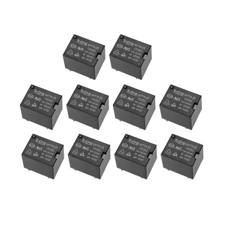 DC12V Coil 5Pin PCB Electromagnetic Power Relay XHT78-ZS 10A 120V AC 10Pcs