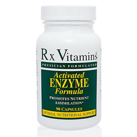 Rx Vitamins, Enzyme 90 caps activés