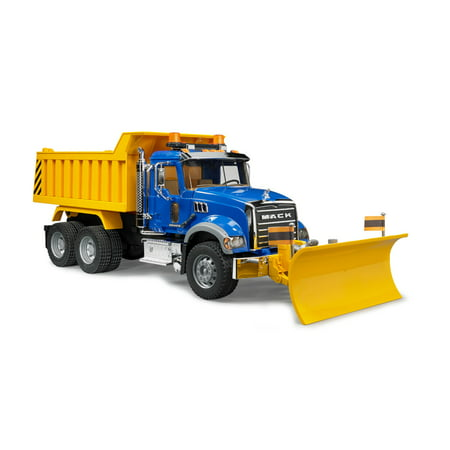 Bruder - MACK Granite Dump Truck with Snow Plow Blade