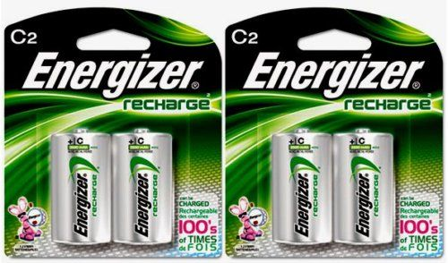 2 Energizer Rechargeable C Nimh Batteries 2 Pack by