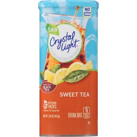 (6 Pack) Crystal Light Sweet Tea Drink Mix, 6 count Canister