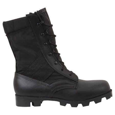 9' Black Jungle (Rothco 9'' Black G.I. Type Speedlace Jungle Boot - 5 Wide)