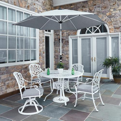 Home Styles Floral Blossom II 5-piece Dining Set with umbrella