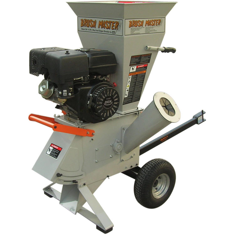 "Brush Master3""x 3"" diameter 270cc Chromium Steel Gas Wood Chipper with Tow Bar"