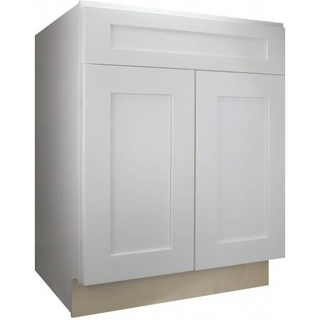 Cabinet Mania:  White Shaker - B27 - Base Cabinet 27