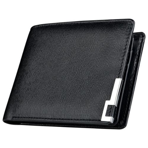 "Zodaca Mens Leather Pocket Wallet Flip Up Cash ID Credit Card Holder Slot with Photo Frame Window , Black (4.3"" x 3.54"")"