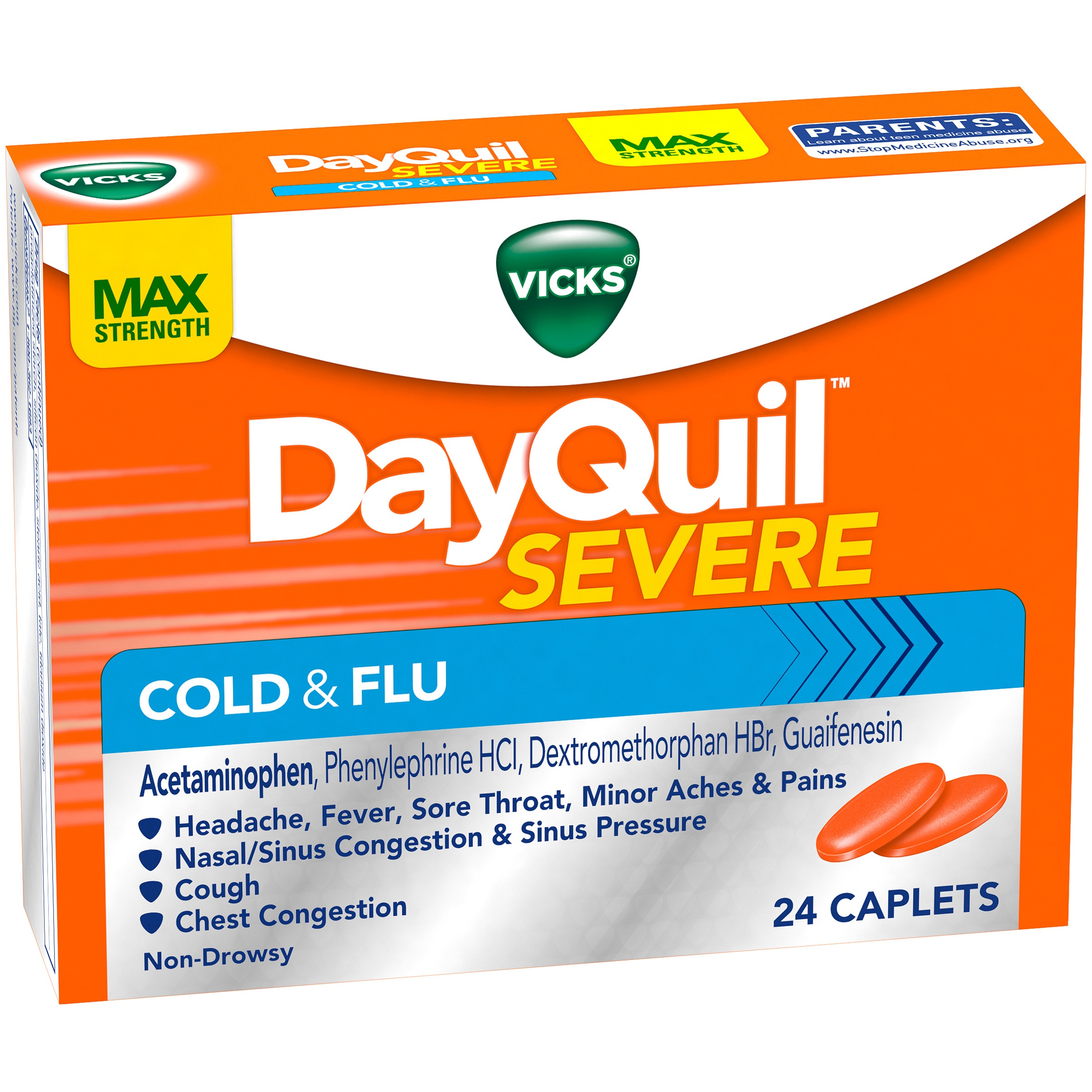 Vicks® DayQuil™ Severe Cold & Flu Caplets 24 ct Box
