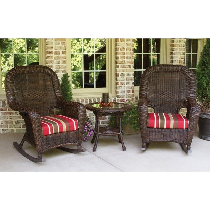 Tortuga Sea Pines 3 Piece Patio Rocker Set