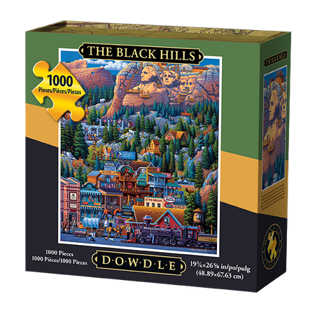 Dowdle Jigsaw Puzzle - The Black Hills - 1000 (Black Wellnessmats Puzzle Piece)