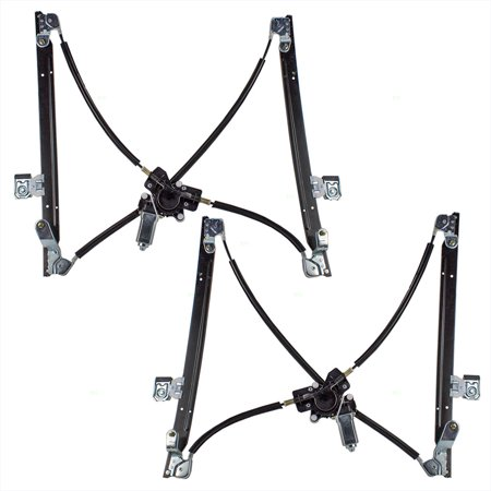 Driver and Passenger Front Power Window Lift Regulators