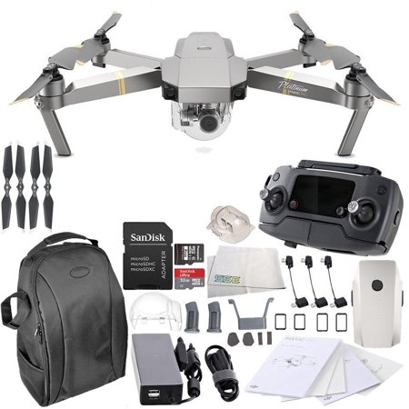 41d4758d063 DJI Mavic Pro Platinum Collapsible Quadcopter Starters Backpack Bundle -  Walmart.com