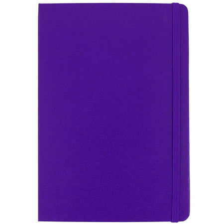 General Journal Paper (JAM Paper Hardcover Notebook with Elastic Band, Large, 5 7/8 x 8 1/2 Journal, Plum Purple, 70 Lined Sheets, Sold Individually)