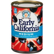Early California Medium Pitted California Ripe Olives, 6 oz. Can