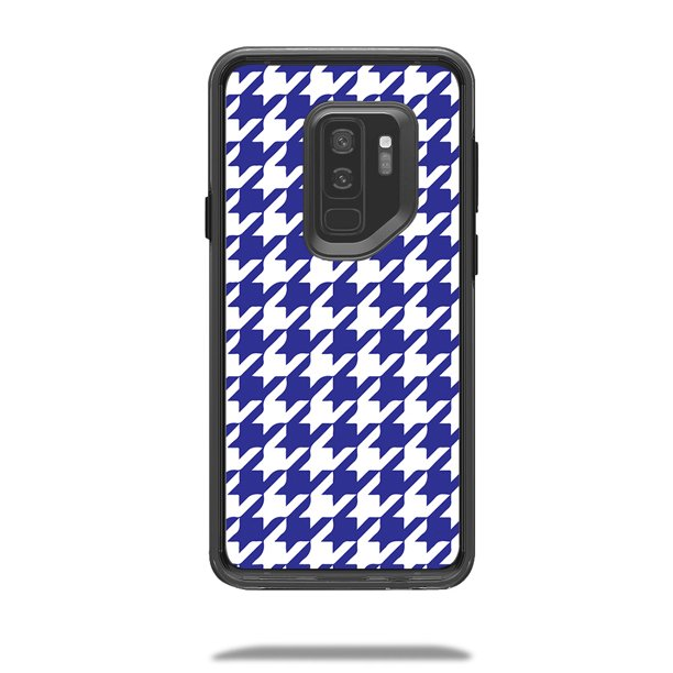 Skin Decal for LifeProof SLAM Samsung Galaxy S9 Plus Case Blue Houndstooth