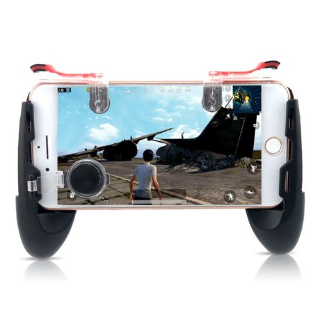 Game Gamepad for Mobile Phone Game Controller + Auxiliary Quick Button for IPhone Transparent ()