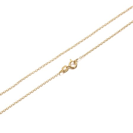 Nickel Plated Chain (Cable Chain Necklace Sterling Silver Italian 1.3mm Gold Plated Nickel Free 14)