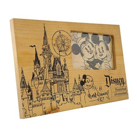Disney Parks Blueprint Of Cinderella Castle Wooden 4x6 Picture Photo