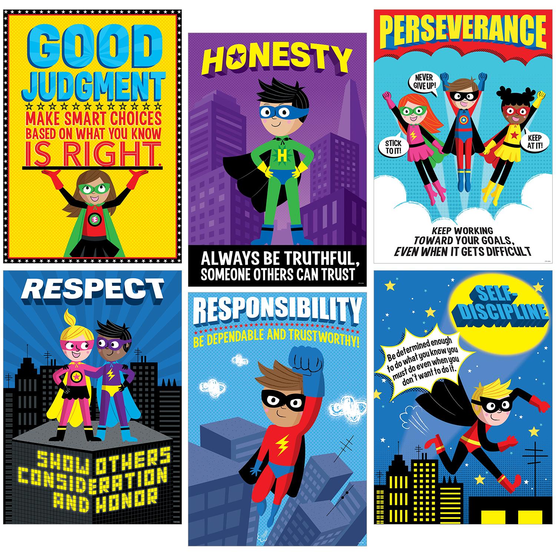 SUPERHERO CHARACTER EDUCATION INSPIRE U 6-PACK