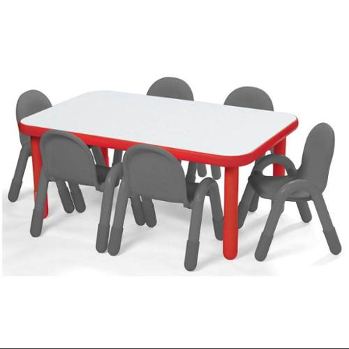 Rectangular Table in Red (16 in.)