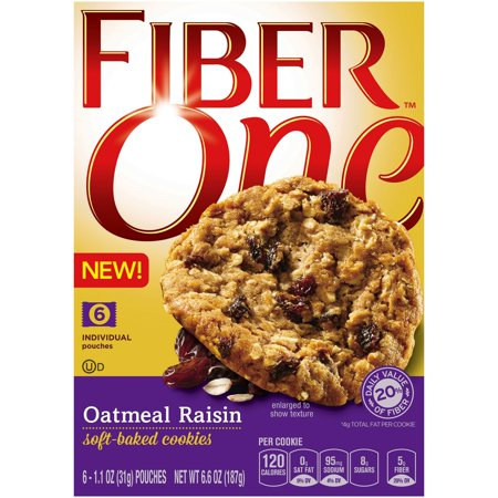 Fiber One Oatmeal Raisin Soft Baked Cookies  1 1 Oz  6 Count