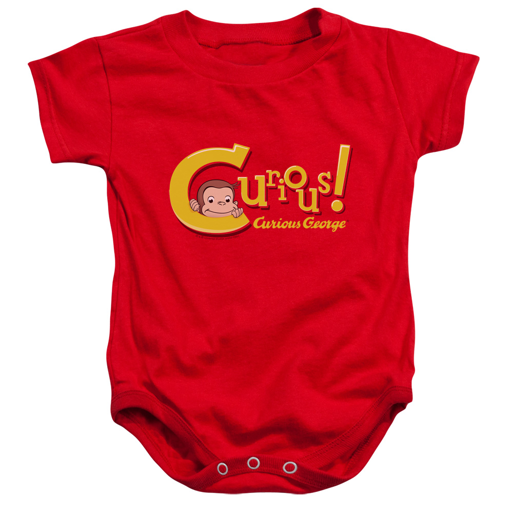Curious George Curious Unisex Baby Snapsuit Red MD (12 Mos)