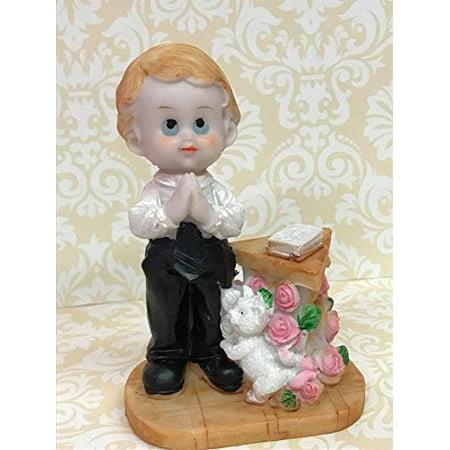 First Communion Cake (First Holy Communion Praying Boy Cake Topper Figurine)
