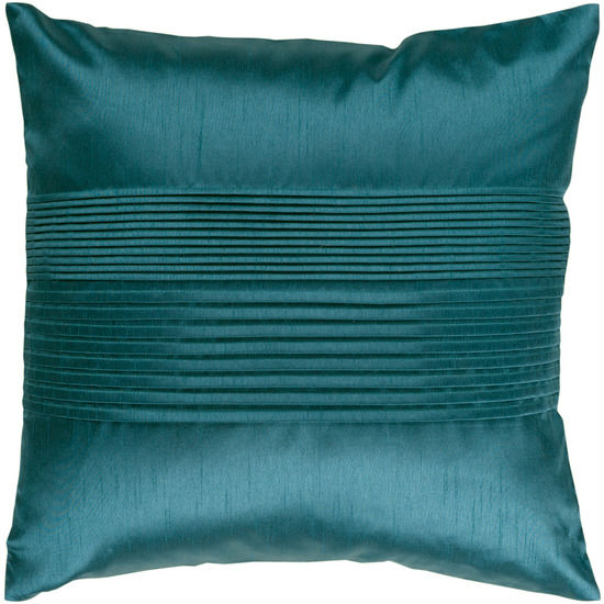 "22"" Teal Blue Tuxedo Pleats Decorative Throw Pillow"