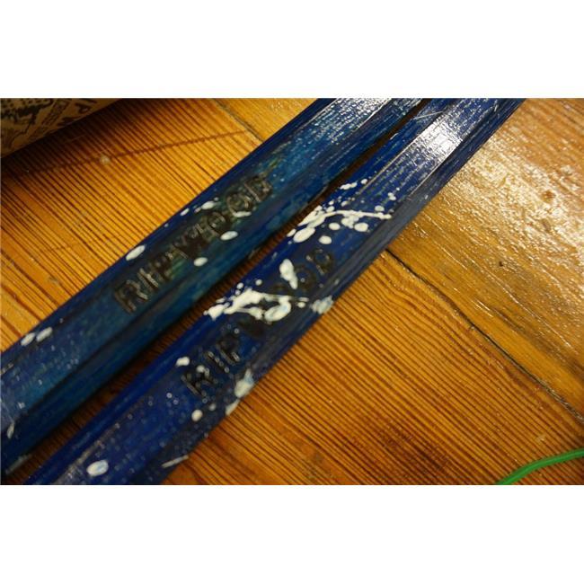 RipWood 850400007709 Splatter Wood Attack Lacrosse Shaft - Navy Blue with White