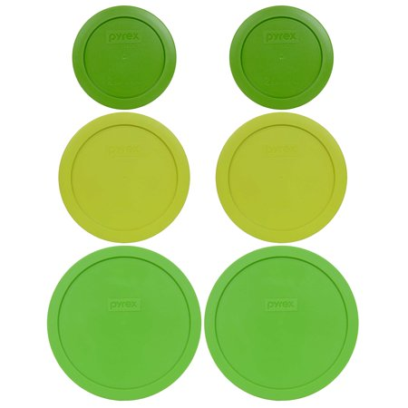 Led Glassware (Pyrex Replacement Lid Green Trio, Sizes 7200-PC, 7201-PC, and 7402-PC (2-Pack) for Pyrex Glassware (Sold)