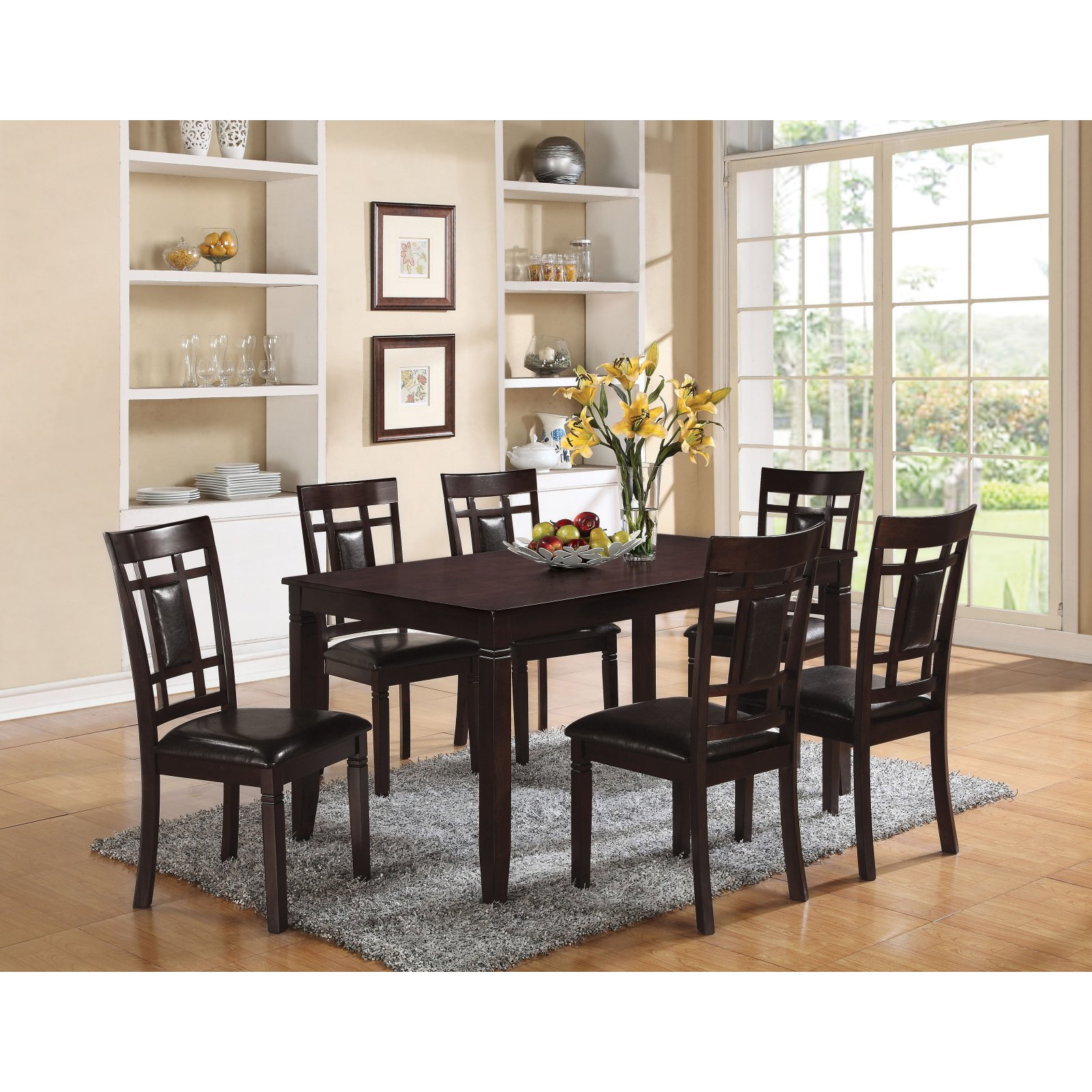 ACME Sonata 7-Piece Pack Dining Room Set, Espresso by Acme Furniture