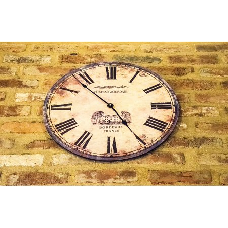 Peel-n-Stick Poster of Clock Time Antique Pointer Old Time Of Dial Poster 24x16 Adhesive Sticker Poster Print (Old Times Pinter)