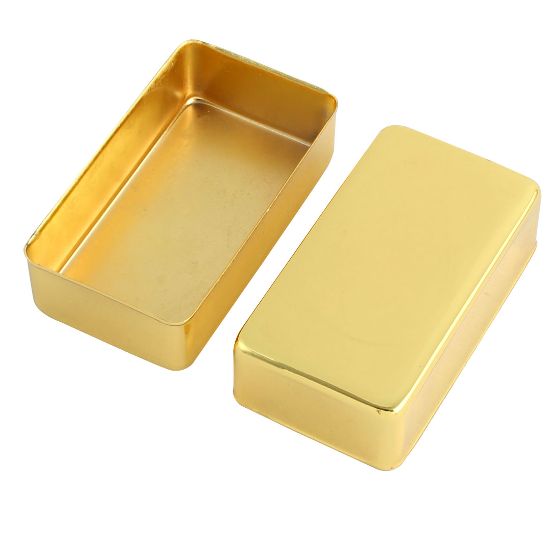Metal Acoustic No-Hole Humbucker Guitar Pickup Cover Gold Tone 7 x 4 x 2cm 2pcs