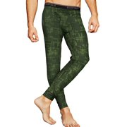 Men's Contrast Stitched Thermatrix Print Pant