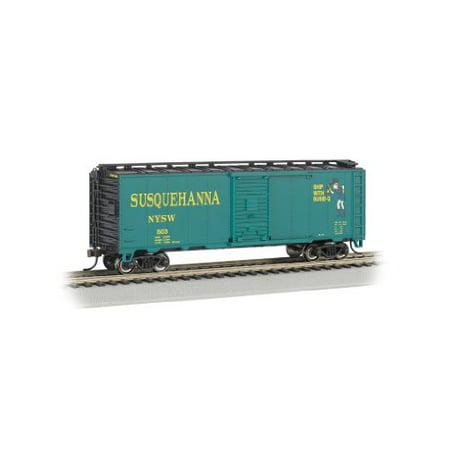 Bachmann Industries Aar 40 Steel Box Car New York, Susquehanna and Western (Suzy Q) Train Car, N Sc