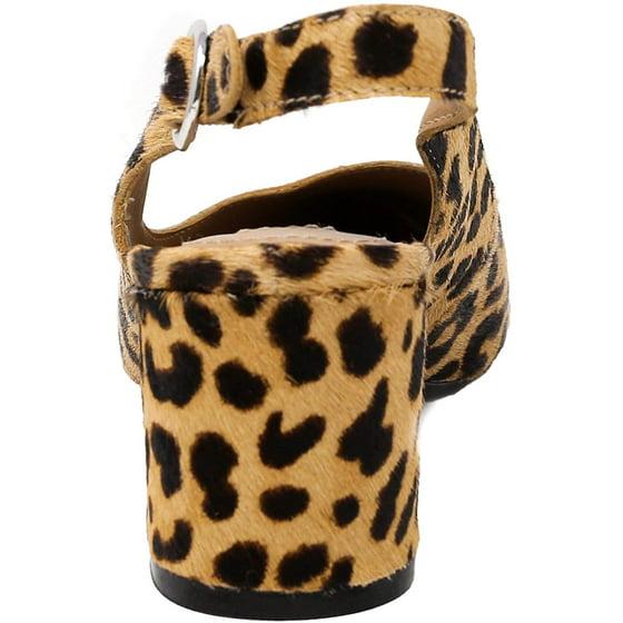 d92a55ef3de Steve Madden Women's Dizzy-L Ankle-High Haircalf Slingback, Leopard, Size  7.5