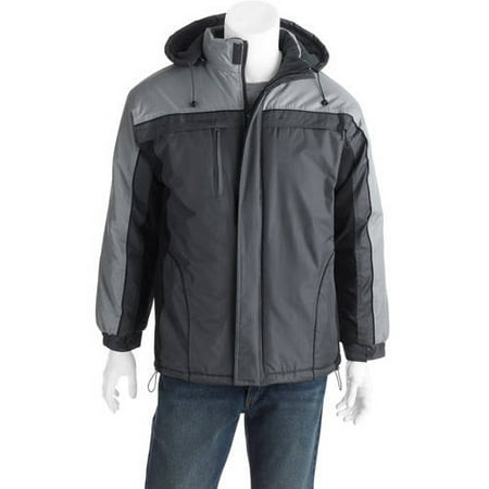 Climate Concepts Big Mens Fleece Lined Jacket With Removable Hood
