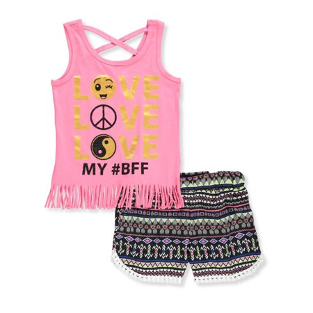 RMLA Girls' 2-Piece Short Set Outfit 2 Piece Overall Short