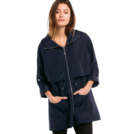 923fc12e21e Ellos - Plus Size Zip Anorak Rain Jacket - Walmart.com