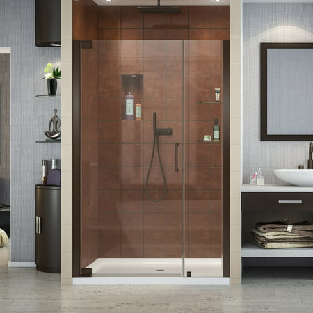 DreamLine Elegance 39 41 in W x 72 in H Frameless Pivot Shower Door in