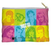 Beverly Hills 90210 Color Blocks Accessory Pouch White 8.5X6