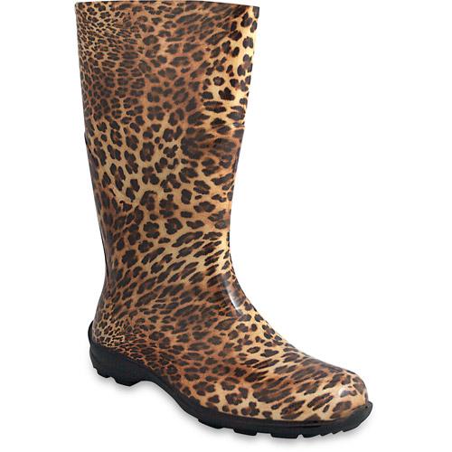 Women's Leopard Print Rain Boots