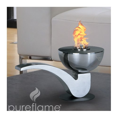 Aquafires Pureflame Pipe Mobile Bio-Ethanol Tabletop Fireplace