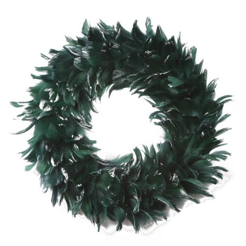 Zucker Feather Products Goose Coque Handmade Glitter Wreath